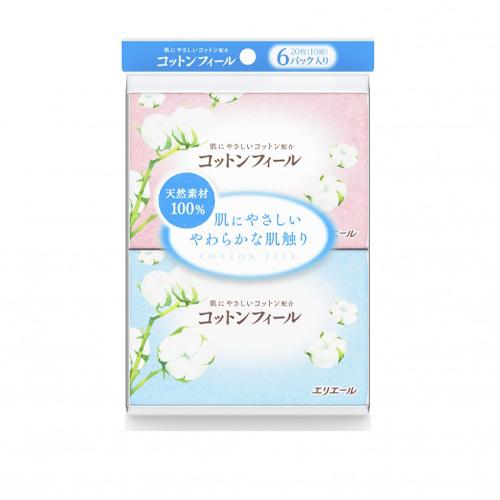 Купить Elleair Салфетки бумажные (платочки) Cotton Feel 10 шт (Elleair, Cotton Feel), Япония