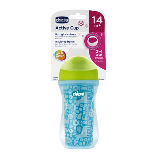 Chicco Чашка-поильник Active Cup (носик ободок) 14+, 266 мл (Chicco, Посуда)