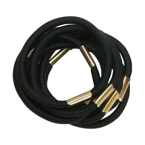 Купить Dewal Резинки для волос, черные, maxi 10 шт (Dewal, Валики и резинки)