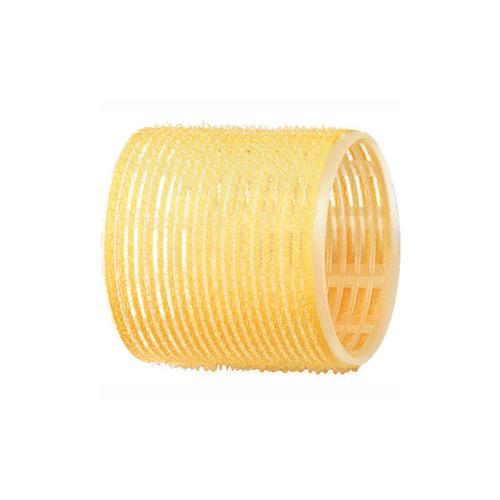 Dewal Бигуди-липучки желтые, 65 мм 6 шт (Dewal, Бигуди и коклюшки) фото