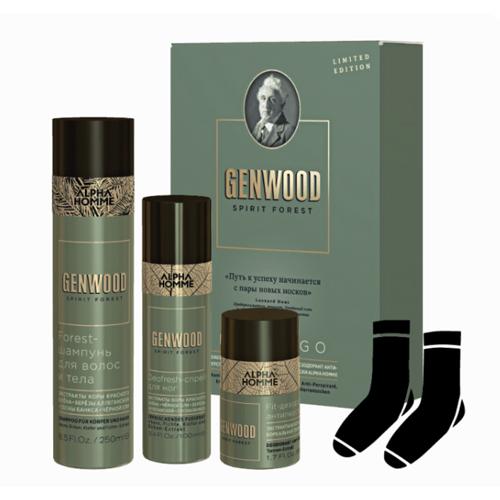 Estel Набор Fresh+ (шампунь 250 мл, дезодорант 50 мл, спрей для ног 100 мл, носки) (Estel, GENWOOD) дезодорант антиперспирант alpha homme genwood fit 50мл