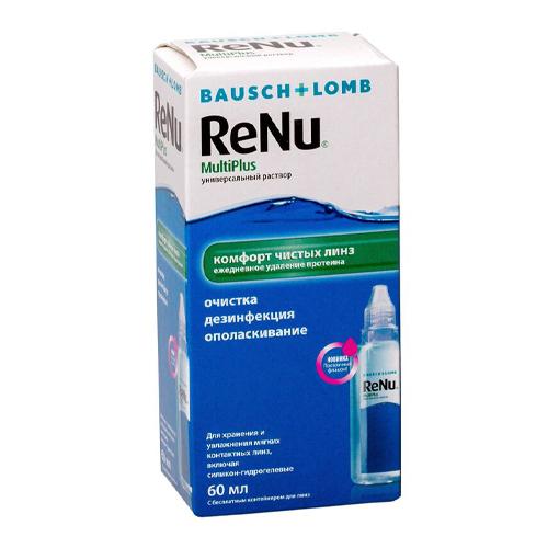 ReNu Универсальный раствор для линз Multiplus 60 мл (ReNu, Multiplus)