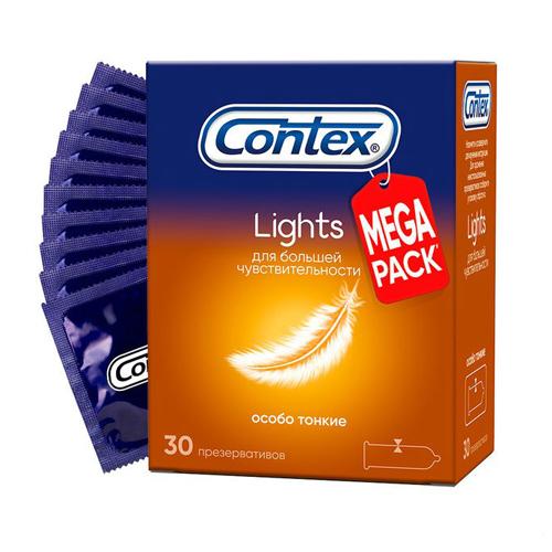 Contex Презервативы Light особо тонкие №30 (Contex, Презервативы)