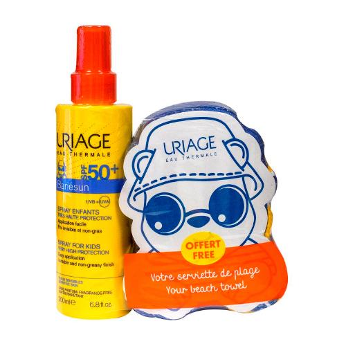 Uriage Набор Барьесан SPF 50+ Спрей для детей 200 мл + Детское пляжное полотенце (Uriage, Bariesun) урьяж барьесан крем солнцезащитный