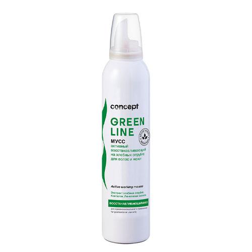Купить Concept Активный восстанавливающий мусс на хлебных отрубях для волос и кожи 250 мл (Concept, Green Line), Россия