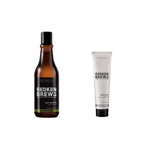 Redken Набор Настоящего Мужчины + несессер в подарок (Redken, Brews) redken brews daily shampoo шампунь для ежедневного ухода за волосами и кожей головы 300 мл
