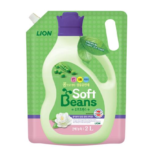 Cj Lion Кондиционер для белья Soft Beans на основе экстракта зеленого гороха 2 л (Cj Lion, Стирка Cj Lion)