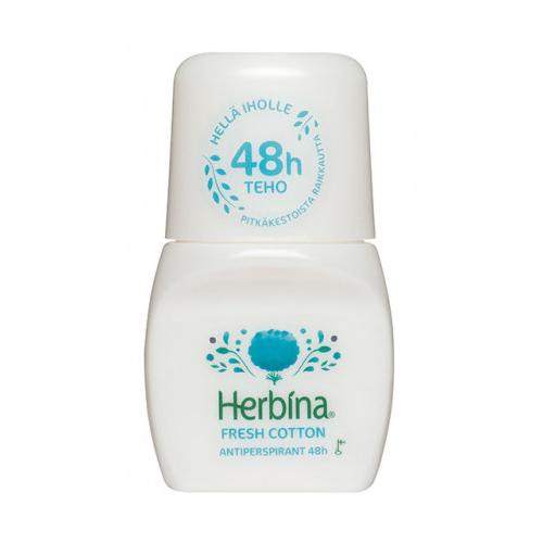 BERNER Herbina Антиперспирант Хлопок 48 часов 50 мл (BERNER, Средства личной гигиены)