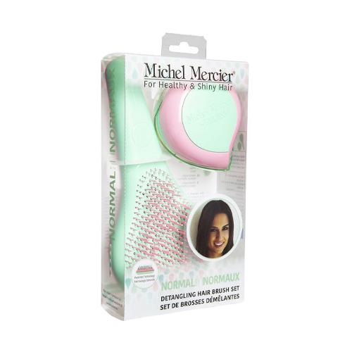 Michel Mercier Набор щеток в пастельных тонах для нормальных волос: классическая и компактная (Michel Mercier, Щетки для волос)