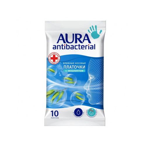 Купить Aura Влажные носовые платочки Antibacterial pocket-pack 10 шт (Aura, Влажные салфетки)