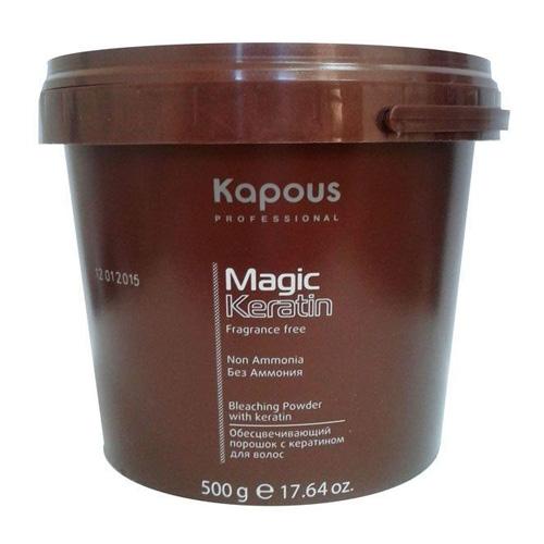 Купить Kapous Professional Пудра осветляющая в микрогранулах non ammonia Magic Keratin 500 мл (Kapous Professional, Fragrance free), Италия