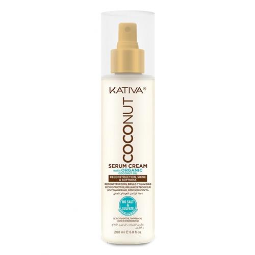 Купить Kativa Восстанавливающая крем-сыворотка с органическим кокос. маслом для поврежденных волос 200 мл (Kativa, Coconut), Перу