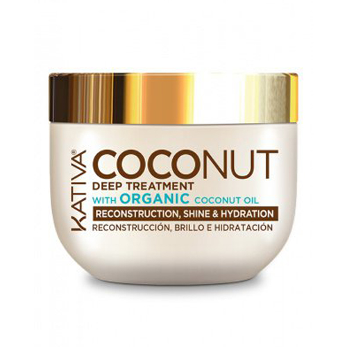 Купить Kativa Восстанавливливающая маска с органическим кокосовым маслом для поврежденных волос 250 мл (Kativa, Coconut), Перу