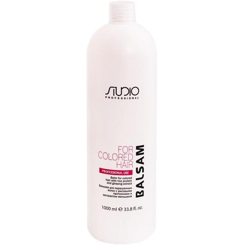 Купить Kapous Professional Бальзам для окрашенных волос с рисовыми протеинами и экстрактом женьшеня 1000 мл (Kapous Professional, Kapous Studio), Италия