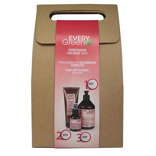 Купить Dikson Набор для окрашенных волос Colored Шампунь для окрашенных волос 500 мл + Маска для окрашенных волос 250 мл + Сыворотка 100 мл (Dikson, EveryGreen)