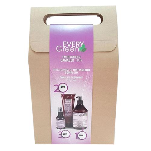 Купить Dikson Набор для поврежденных волос Damaged Hair (Шампунь для поврежденных волос 500 мл + Маска для поврежденных волос 250 мл + Сыворотка 100 мл (Dikson, EveryGreen)