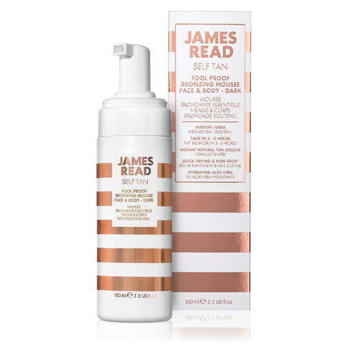 James Read Бронзирующий мусс для новичков темный Fool Proof Bronzing Mousse Face & Body Dark 100 мл (James Read, Self Tan Dark)