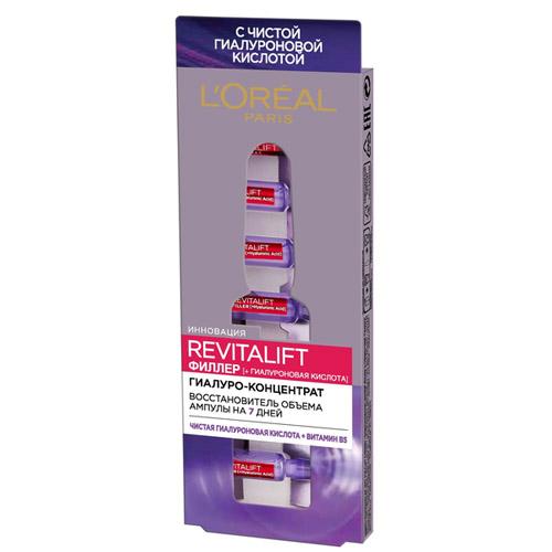 Купить L'Oreal Гиалуро-концентрат для кожи лица и шеи в ампулах Revitalift Филлер 7 шт (L'Oreal, Revitalift), Франция