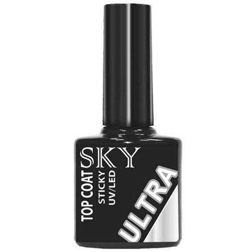 SKY Top Coat Sky Ultra с липким слоем 10 мл (SKY, Покрытие гель-лаком)