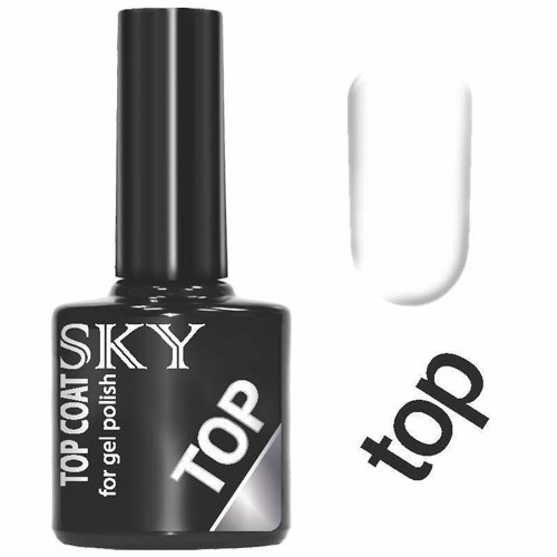 SKY Top Coat Sky 10 мл (SKY, Покрытие гель-лаком)