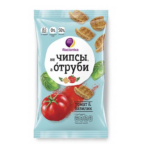 Racionika Отруби хрустящие томат и базилик 90 г (Racionika, не Чипсы, а Отруби)