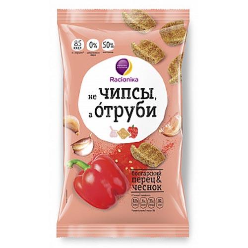 Racionika Отруби хрустящие болгарский перец и чеснок 90 г (Racionika, не Чипсы, а Отруби)
