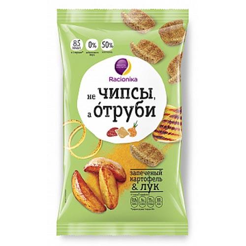 Racionika Отруби хрустящие запечённый картофель и лук 90 г (Racionika, не Чипсы, а Отруби)