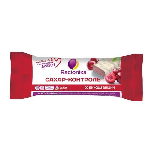 Купить RACIONIKA Батончик Сахар-контроль со вкусом вишни 50 г (RACIONIKA, Racionika Сахар-контроль)