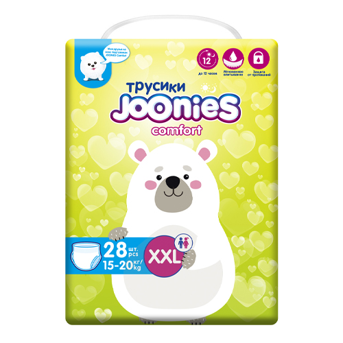 JOONIES Подгузники-трусики Comfort размер XXL (15-20 кг) 28 шт (JOONIES, Comfort)