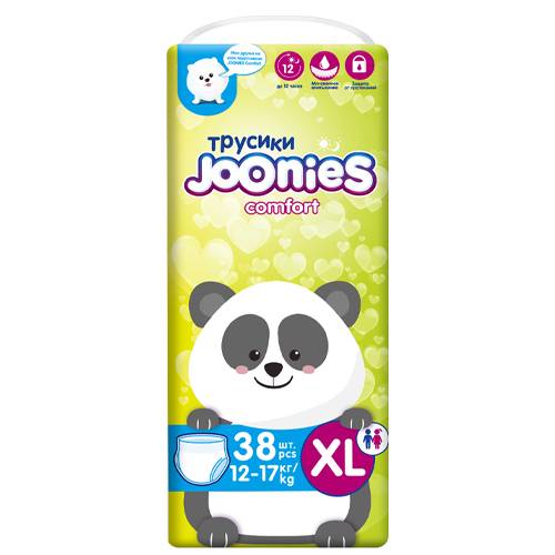 JOONIES Подгузники-трусики Comfort размер XL (12-17 кг) 38 шт (JOONIES, Comfort)