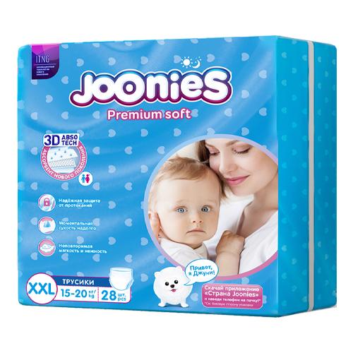 JOONIES Подгузники-трусики размер XXL (15-20 кг) 28 шт. (JOONIES, Premium Soft)