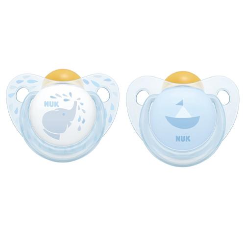 NUK Пустышка Trendline ортодонтическая Baby Blue латекс размер 1 (NUK, Соски-пустышки и аксессуары)