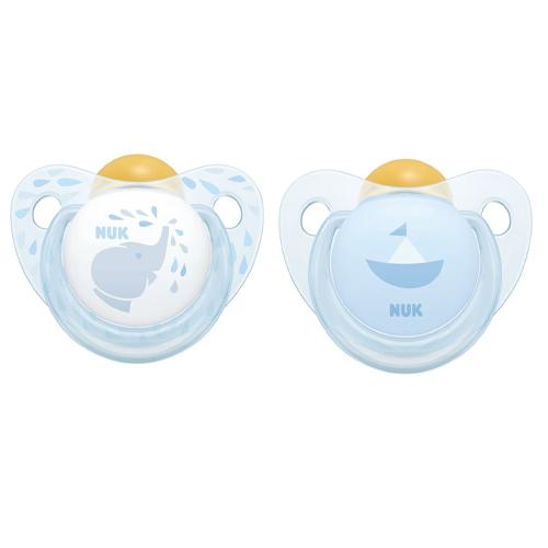 NUK Пустышка Trendline ортодонтическая Baby Blue латекс размер 2 (NUK, Соски-пустышки и аксессуары)