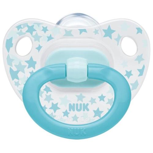 NUK Пустышка ортодонтическая Happy Days силикон, размер 2 звезды + контейнер (NUK, Соски-пустышки и аксессуары)