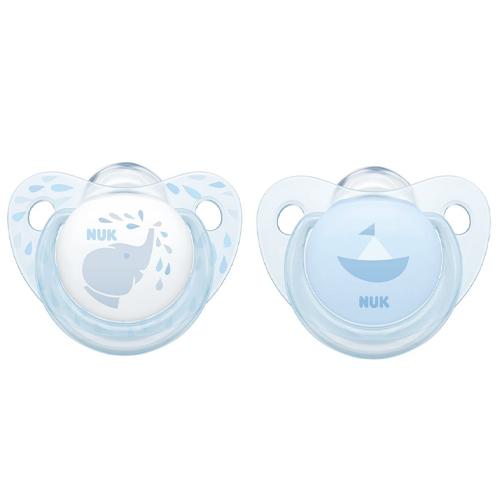 Купить NUK Пустышка ортодонтическая Baby Blue силикон, размер 2 (NUK, Соски-пустышки и аксессуары)