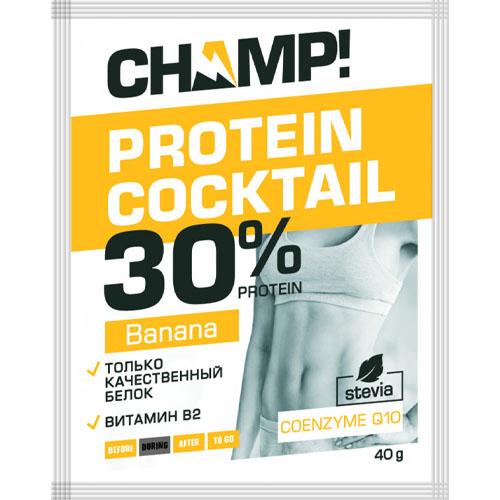 Купить Леовит Коктейль Champ протеиновый банановый 40 г (Леовит, Champ), Россия