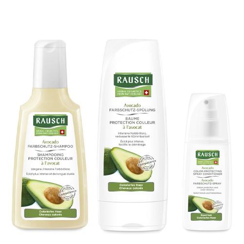 Купить Rausch Набор Для окрашенных волос шампунь 200 мл + кондиционер 200 мл + спрей 100 мл (Rausch, Для окрашенных волос)