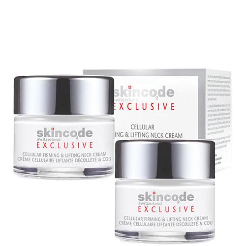 Skincode Набор Клеточный укрепляющий и подтягивающий крем для шеи 2 х 50 мл (Skincode, Exclusive) крем для лица энергетический клеточный skincode essentials 24 часа в сутки 50 мл