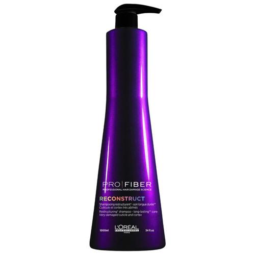 Loreal Professionnel Восстанавливающий шампунь для волос Reconstruct 1000 мл (Loreal Professionnel, Pro Fiber) l oreal professionnel пюр ресорс шампунь для жирных волос 1500 мл