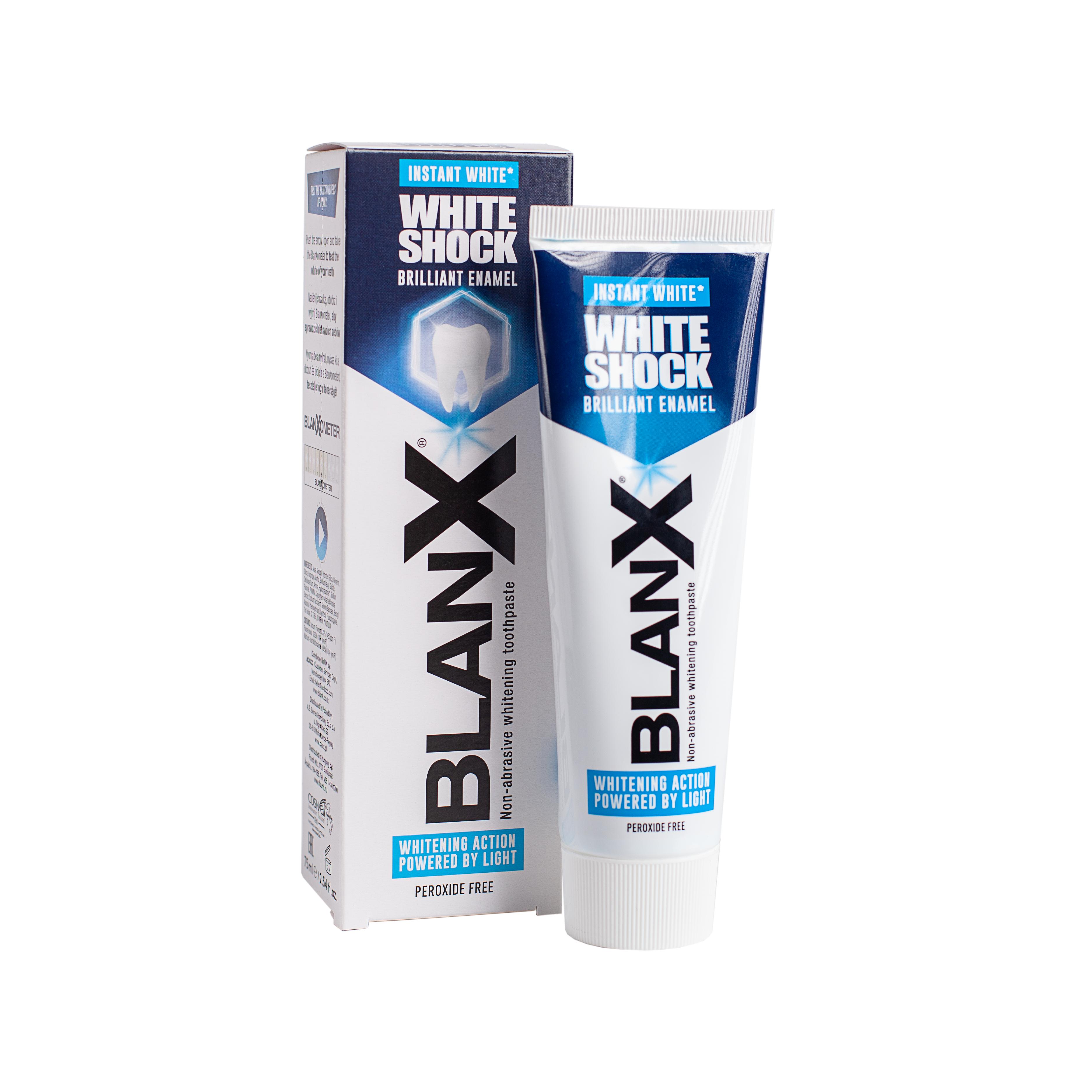Купить Blanx Зубная паста отбеливающая Вайт Шок 75 мл (Blanx, Зубные пасты Blanx), Италия