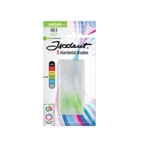 Зубной ершик Щетинки средней толщины Isodent medium brushes 6 шт. (Blanx, Isodent)