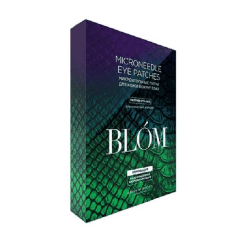 blom микроигольные патчи для глаз увлажнение и разглаживание 4 шт Blom Патчи от мимических морщин, 4 пары (Blom, Микроигольные патчи)