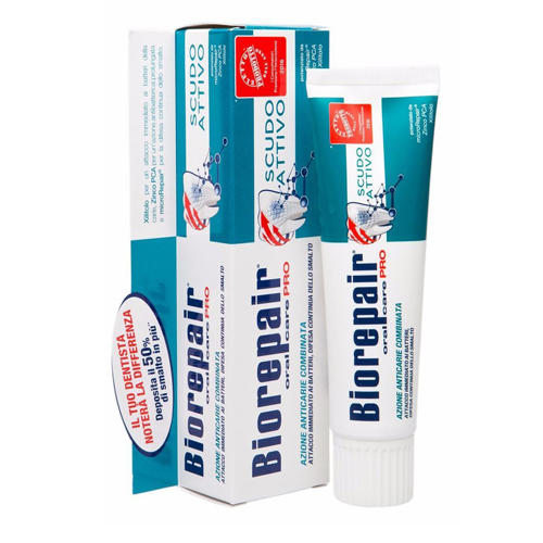 Pro Scudo Active Shield Активная защита эмали зубов 75 мл (Biorepair, Ежедневная забота) недорого