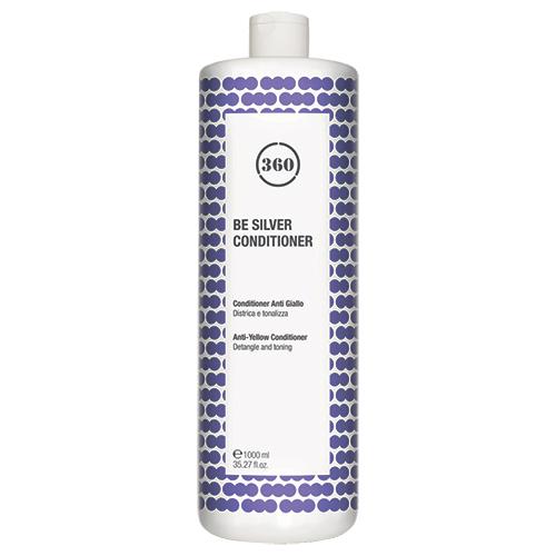 Фото - 360 Антижелтый кондиционер для волос Be Silver Conditioner, 1000 мл (360, Уход) kaaral кондиционер для волос 360 be silver 1000 мл