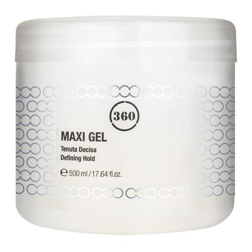 360 Гель для волос с сильной фиксацией Maxi Gel, 500 мл (360, Стайлинг)