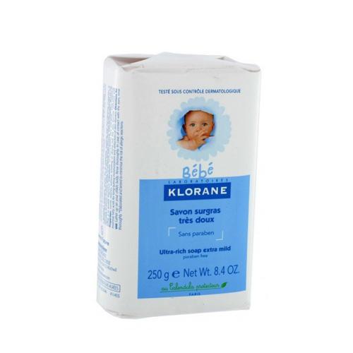 Детское Сверхпитательное мыло 250 г (Klorane, Bebe) цена