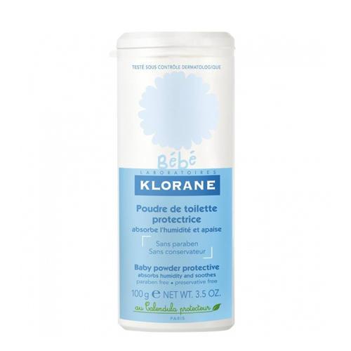 Защитная туалетная присыпка с экстрактом Календулы 100г (Klorane Bebe)