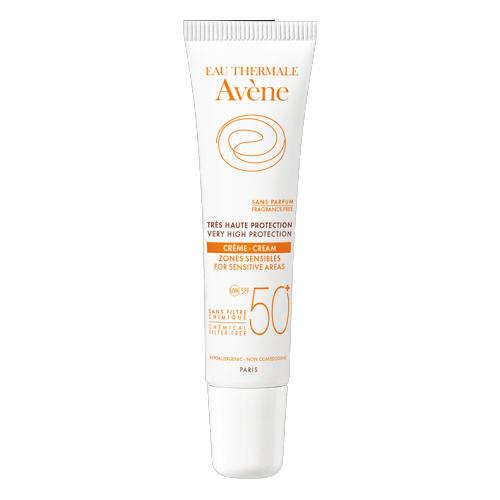 Avene Солнцезащитный крем SPF 50 с минеральным экраном для чувствительных зон 15 мл (Avene, Suncare)