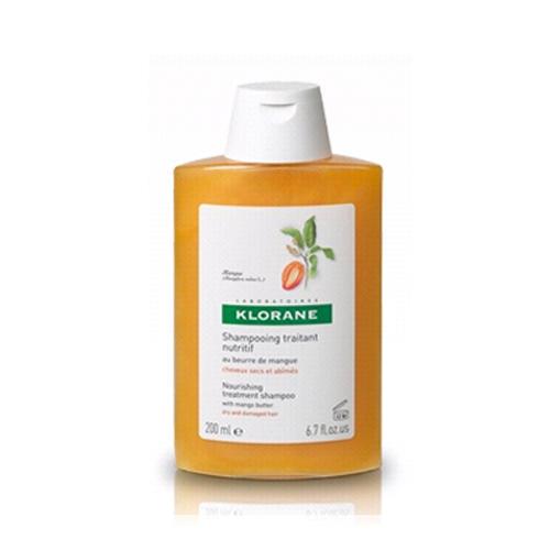 Шампунь с маслом Манго для сухих, поврежденных волос 200 мл (Dry Hair) (Klorane)