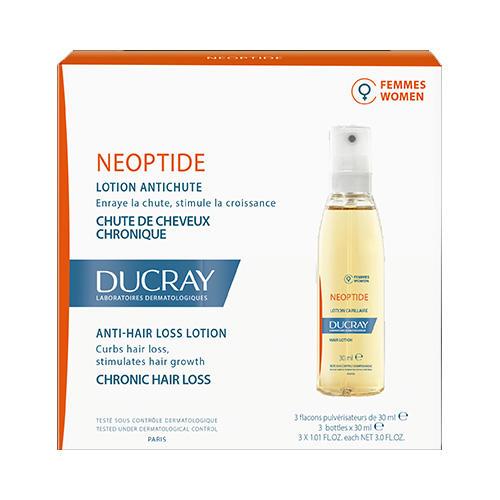 Ducray Неоптид Биостимулирующий лосьон против выпадения волос (3 флакона по 30 мл) (Ducray, Выпадение волос) биокрин для волос купить